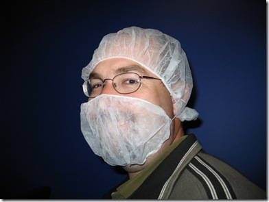 Me with hairnets