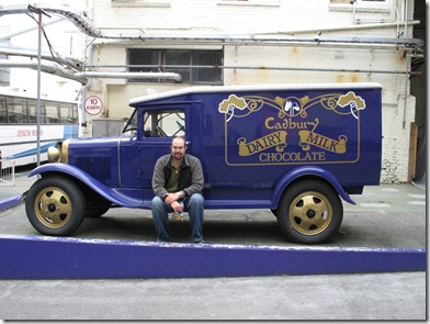 Old style Cadbury chocolate van