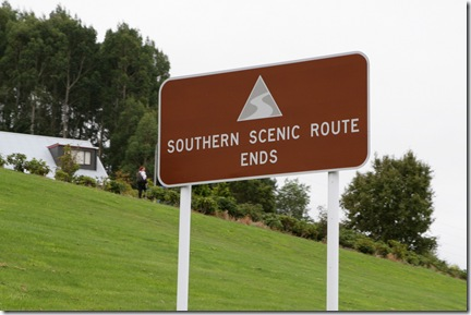 End fo the Southern Scenic Route