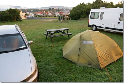 Our tent at Dunedin