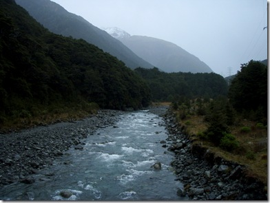 River near Arthurs pass village