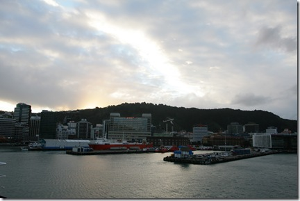 Wellington Harbour at sunset