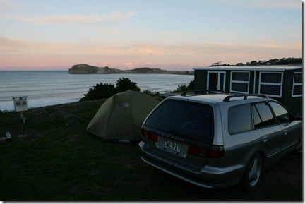 Our tent location at castlepoint