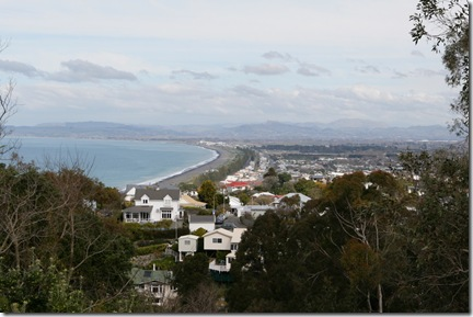 Lookout  looking south at Napier city