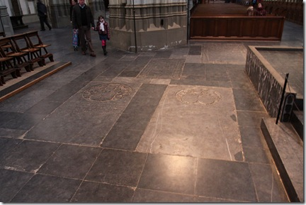 burial areas inside the church
