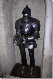 A knights metal outfit