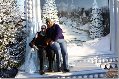 Fem and I on the ice throne