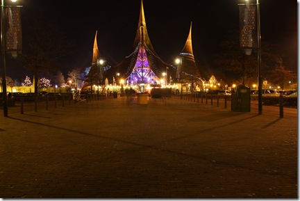 Leaving the main entrance of the Efteling