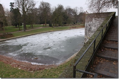 A frozen pond