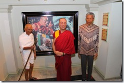 Ghandi, Dali Lama and Mandela