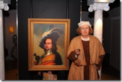 Rembrandt with his new masterpiece