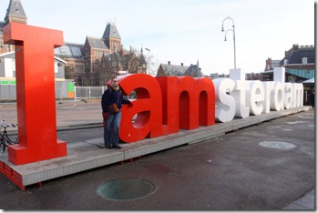 Fem with Amsterdam sign