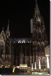Dom church at night