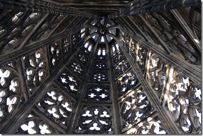 Looking up to the top of the tower