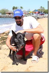 Brent and Zulu at the beach